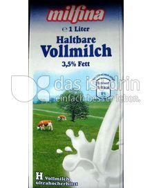 Produktabbildung: Milfina Haltbare Vollmilch 3,5% Fett 1 l