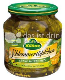 Produktabbildung: Kühne Schlemmertöpfchen Süße Gürkchen 580 ml