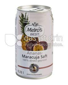 Produktabbildung: Melro's Best Ananas - Maracuja Saft 100% direkt gepresst 330 ml