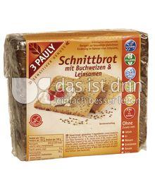 Produktabbildung: 3 PAULY Schnittbrot mit Buchweizen und Leinsamen 375 g