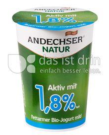 Produktabbildung: Andechser Natur Fettarmer Bio-Jogurt mild, Aktiv mit 1,8% 500 g