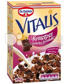 Produktabbildung: Dr. Oetker Vitalis Knusper Schoko feinherb 600 g