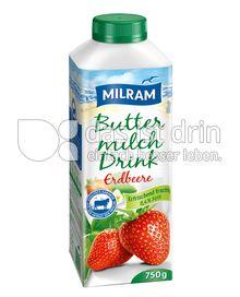 Produktabbildung: MILRAM Buttermilch Drink Erdbeere 750 g