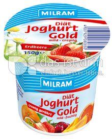 Produktabbildung: MILRAM Joghurt Gold unterlegt Erdbeere 150 g