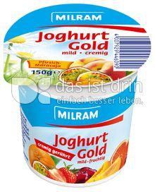 Produktabbildung: MILRAM Joghurt Gold unterlegt Pfirsich-Maracuja 150 g