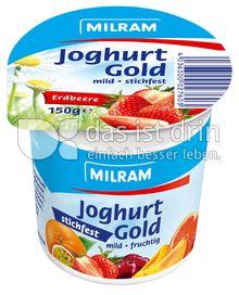 Produktabbildung: MILRAM Joghurt Gold Erdbeere stichfest 150 g