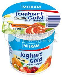 Produktabbildung: MILRAM Joghurt Gold Vanilla Blutorange 150 g