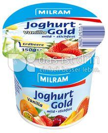 Produktabbildung: MILRAM Joghurt Gold Vanilla Erdbeere 150 g