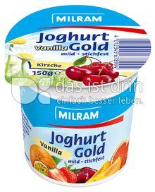 Produktabbildung: MILRAM Joghurt Gold Vanilla Kirsche 150 g