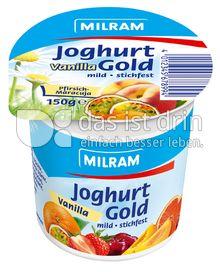 Produktabbildung: MILRAM Joghurt Gold Vanilla Pfirsich-Maracuja 150 g
