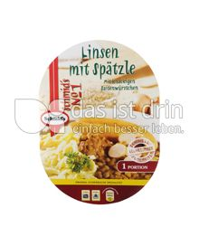 Produktabbildung: Schmid's No 1 Linsen mit Spätzle mit knackigen Saitenwürstchen 400 g