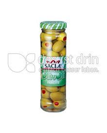Produktabbildung: Saclà Grüne Oliven mit Paprikapaste 140 g
