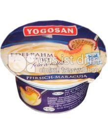 Produktabbildung: Yogosan Edelrahm Joghurt Pfirsich-Maracuja 150 g
