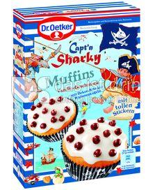 Produktabbildung: Dr. Oetker Capt´n Sharky Muffins Vanille