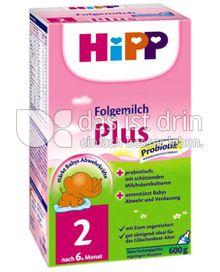 Produktabbildung: Hipp Folgemilch Plus 2 600 g