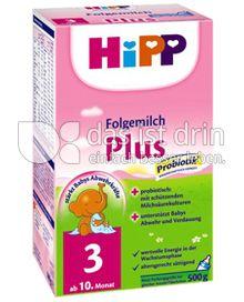 Produktabbildung: Hipp Folgemilch Plus 3 500 g