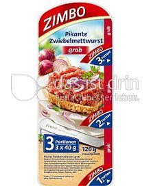 Produktabbildung: Zimbo Pikante Zwiebelmettwurst 120 g