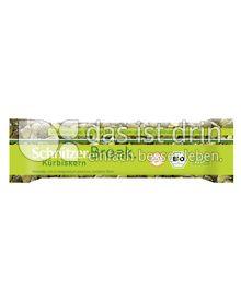 Produktabbildung: Schnitzer glutenfrei Break Bio Riegel Kürbiskern 40 g