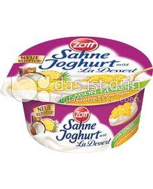 Produktabbildung: Zott Sahne-Joghurt La Dessert Ananas-Kokos-Rum 150 g