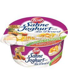 Produktabbildung: Zott Sahne-Joghurt  La Dessert Tropische Früchte 150 g