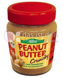 Produktabbildung: Allos Peanut Butter crunchy 227 g