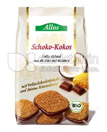 Produktabbildung: Allos Schoko-Kokos Gebäck 125 g