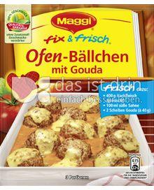 Produktabbildung: Maggi fix & frisch Ofen-Bällchen mit Gouda 41 g