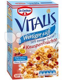 Produktabbildung: Dr. Oetker Vitalis Weniger süß Knusper Früchte 500 g