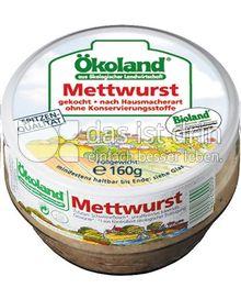 Produktabbildung: Ökoland gekochte Bio Mettwurst 160 g