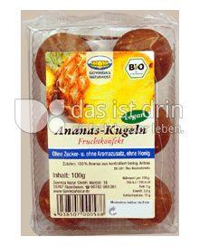 Produktabbildung: Govindas Naturkost Ananas Kugeln 100 g