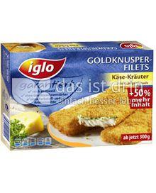 Produktabbildung: iglo Goldknusper-Filets Käse-Kräuter 200 g