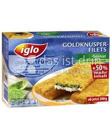 Produktabbildung: iglo Goldknusper-Filets Spinat 300 g