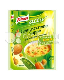 Produktabbildung: Knorr Aktiv Gemüsecremesuppe mit Knusper Croutons 450 ml