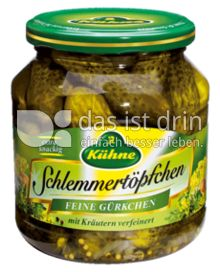 Produktabbildung: Kühne Schlemmertöpfchen Feine Gürkchen 580 ml
