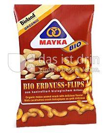 Produktabbildung: MAYKA Bio Erdnuss-Flips 75 g