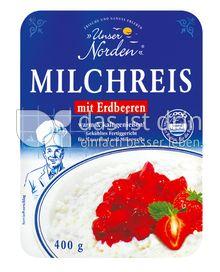 Produktabbildung: UNSER NORDEN MILCHREIS MIT ERDBEERSAHNE 400 g