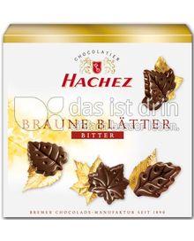 Produktabbildung: Hachez Braune Blätter Edel-Bitter 54 g