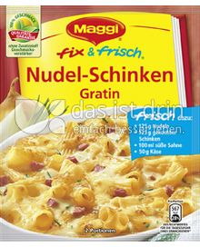 Produktabbildung: Maggi fix & frisch Nudel-Schinken Gratin 30 g