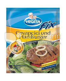 Produktabbildung: Podravka VEGETA  FIX Cevapcici und Hamburger 40 g
