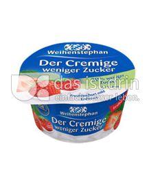 Produktabbildung: Weihenstephan Der Cremige weniger Zucker Erdbeere 150 g