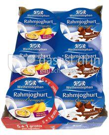 Produktabbildung: Weihenstephan Rahmjoghurt Pfirsich-Maracuja + Stracciatella 150 g