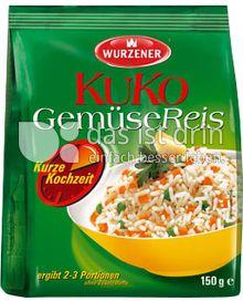 Produktabbildung: Wurzener KuKo GemüseReis 150 g