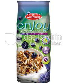 Produktabbildung: Wurzener enjoy Frucht-Genuss Brombeer - Heidelbeer 250 g