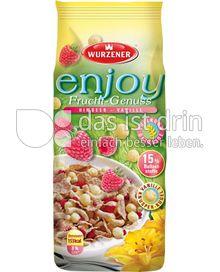 Produktabbildung: Wurzener enjoy Frucht-Genuss Himbeer - Vanille 250 g