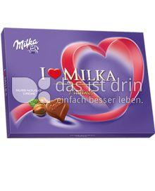 Produktabbildung: Milka I love Milka Nuss-Nougat-Crème Pralinés 125 g