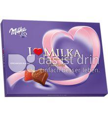 Produktabbildung: Milka I love Milka Erdbeer-Rahm Pralinés 125 g