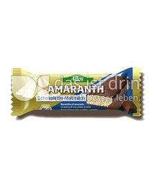 Produktabbildung: Allos Amaranth-Schokolette Vollmilch 0 g