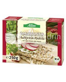 Produktabbildung: Allos Amaranth Multigrain-Knäcke 250 g