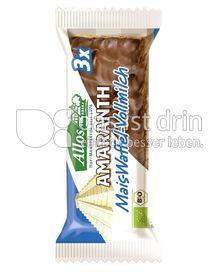 Produktabbildung: Allos Amaranth Mais-Waffel-Vollmilch 37 g