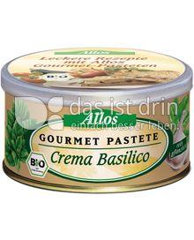 Produktabbildung: Allos Gourmet Pastete Crema Basilico 125 g